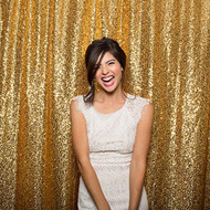 5ft x 6ft Gold Sequin Taffeta Fabric Photography Backdrop, Sequin Photo Booth Backdrop - MADE IN USA.