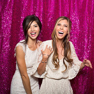 5ft x 6ft HOT PINK Sequin Taffeta Fabric Photography Backdrop, Sequin Photo Booth Backdrop - MADE IN USA.