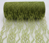 "6"" wide x 10 Yards Sparkle Floral Pattern Lace Fabric for Decorating, Floral Designing and Crafts (Olive)"