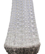 """AK-Trading 14"""" X 108"""" Vortex Lace Table Runner for Home, Events & Wedding Decorations (Silver)"""