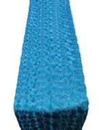 "AK-Trading 14"" X 108"" Vortex Lace Table Runner for Home, Events & Wedding Decorations (Turquoise)"