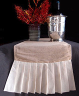 "AK-Trading 14"" x 114"" Juco Burlap & Cotton Blend Table Runner with Cotton Ruffles"