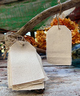 """AK-Trading 2 3/4"""" x 4 3/4"""" Natural Canvas Creative Tags with Jute Twine - Pack of 12"""