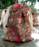 "AK-Trading 3"" x 4"" Vintage Floral Favor Bags for Gifts, Decoration & Favors - Pack of 12 (Olive)"