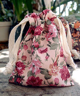 "AK-Trading 3"" x 4"" Vintage Floral Favor Bags for Gifts, Decoration & Favors - Pack of 12 (Pink)"