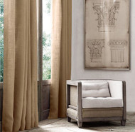 "AK-Trading Burlap Drape Panel 2pc Set Backdrop 100% Jute Curtain 5ft x 6ft (60"" X 72"") Natural"