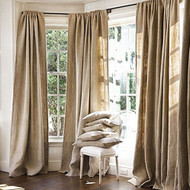"AK-Trading Burlap Drape Panel Backdrop 100% Jute Burlap Window Curtain Panel - MADE IN USA (96"" High x 58"" Wide)"