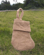 "AK-Trading Burlap Jute Holidays Christmas Stockings - Pack of 6 (Natural Burlap, 6"" x 5"")"