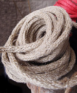"AK-Trading Decorative Jute Wired Rope 1/4"" X 9 Yards (Light Natural)"