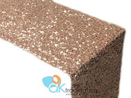 AK-Trading Sequin Runner, 12x60 Inch Rain Drops Sequin Taffeta Fabric Sequin Runner (Blush)
