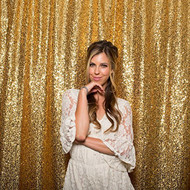 GOLD Sequin Taffeta Fabric Photography Backdrop, Sequin Photo Booth Backdrop, Sequin Drape - MADE IN USA - Select from 3 Sizes. (5ft x 6ft)