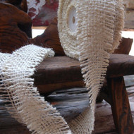 JUTE BURLAP RIBBON - IVORY 1.5 INCH X 10 YARDS