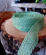 JUTE BURLAP RIBBON - MINT 1.5 INCH X 10 YARDS