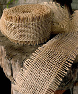 JUTE BURLAP RIBBON - NATURAL 2.5 INCH X 10 YARDS