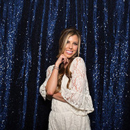 MIDNIGHT BLUE Sequin Taffeta Fabric Photography Backdrop, Sequin Photo Booth Backdrop, Sequin Drape - MADE IN USA - Select from 3 Sizes. (5ft x 9ft)
