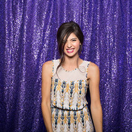 PURPLE Sequin Taffeta Fabric Photography Backdrop, Sequin Photo Booth Backdrop, Sequin Drape - MADE IN USA - Select from 3 Sizes. (5ft x 6ft)