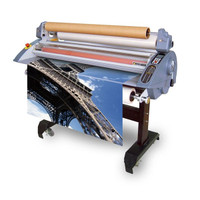 "•45"" laminating width for wide format laminating  •High quality heated silicone rubber rollers  •Compact design with included dust cover •Rear cross cutter and document guides  •9 programmable memory presets  •Auto off and standby modes  •Easy load film supply shafts  •Mounting up to 5/8"" thick  •Dual hot/cold laminating  •Emergency safety stops"