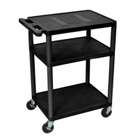 "Black A/V Cart - 34"" high"