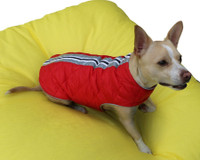 Cherry Red Puffa Dog Vest