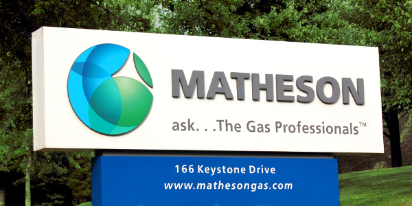 MATHESON facility sign