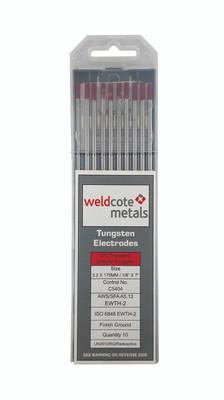 Weldcote Tungsten 1/8x7 2% Thoriated 10Pk