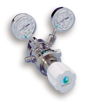 Model 9460 Series Dual-Stage Ultra High-Purity Stainless Steel Regulator with Tied Diaphragms