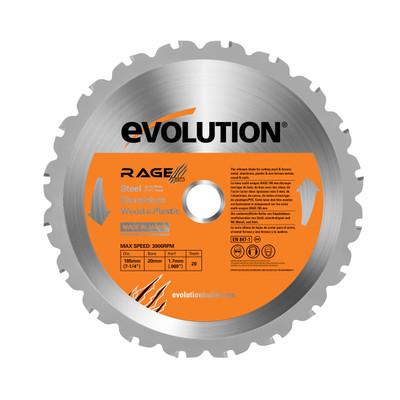 "Evolution 7-1/4"" Steel Cutting Circular Saw with Blade"
