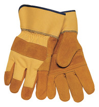 Tillman 1500YPP Cowhide Split 3-Piece Palm Work Gloves, Large