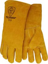 Tillman 1015 Bourbon Brown Insulated Stick Welding Gloves, Large
