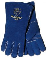 Tillman 1018 Blue Insulated Stick Welding Gloves, Large