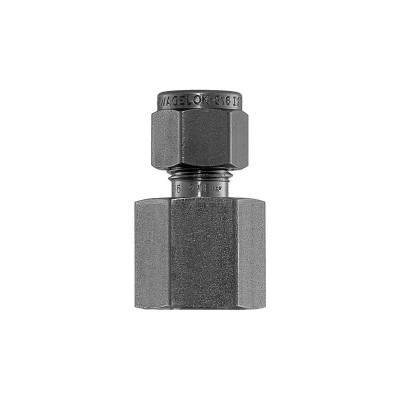 """Connector, 1/4"""" Compression by 1/4"""" FNPT, SS"""