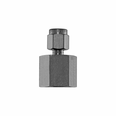 """Connector, 1/8"""" Compression by 1/4"""" FNPT, SS"""