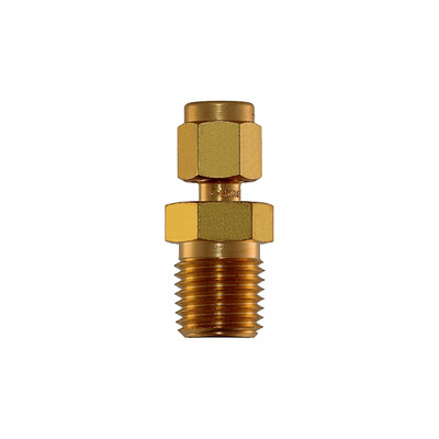 """Connector, 1/8"""" Compression by 1/4"""" MNPT, Brass"""
