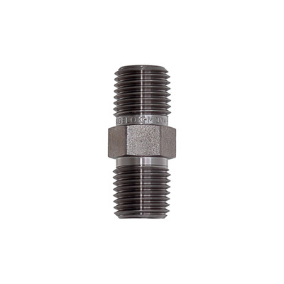 "Hex Nipple, 1/4"" NPT, Monel"