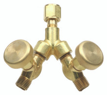 """Y"" Connector WITH  Shut-Off Valves"
