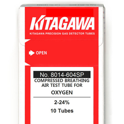 Oxygen, Gas Detector Tubes for Compressed Breathing Air