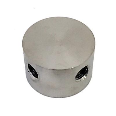 Round Cross, Stainless Steel (SEQBLO0041SA)