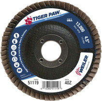 Weiler Tiger Paw Flap Disc