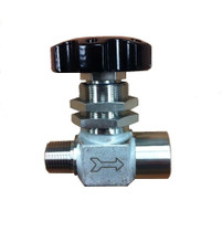 "Diaphragm Valve, 1/2"" MNPT Inlet x 1/2"" FNPT Outlet, Stainless Steel"