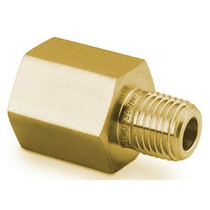 "Adapter, 1/8"" MNPT x 1/4"" FNPT, Brass"