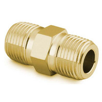 "Hex Nipple, 1/2"" NPT, Brass"