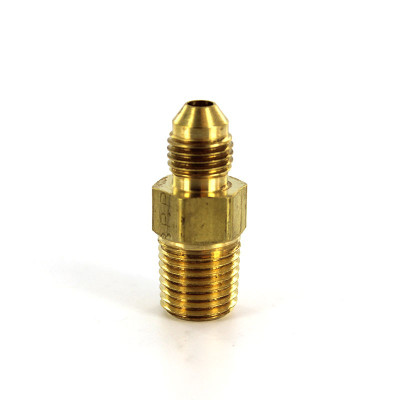 """Connector, 1/4"""" 37° Flare by 1/4"""" MNPT, Brass"""