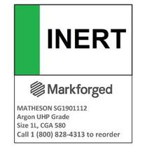 INERT- MATHESON Argon UHP Grade Size 1L, CGA 580