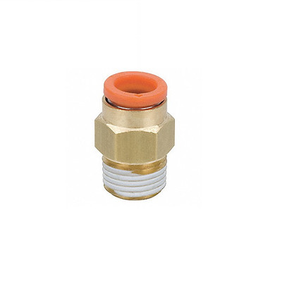 """Connector, 1/4"""" One-Touch by 1/4"""" MNPT, Brass"""