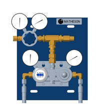 High-Flow Automatic Switchover System, 2 Cylinder (Brass)