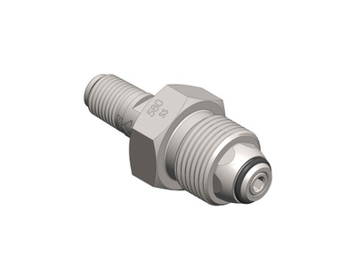 CGA Fitting - w/Integral Check Valve (SS)
