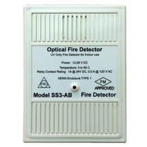 Optical Fire Detector with mounting bracket, Honeywell Fire Sentry Model SS3-ABN