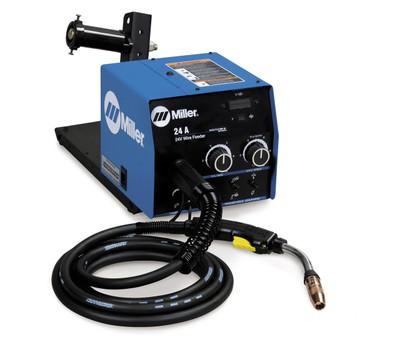 Miller 24A wire feeder w/Digital Meters, Voltage Control, BTB 300A Gun -951194