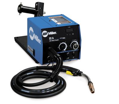 Miller 22A wire feeder w/Digital Meters, Voltage Control, BTB 300A Gun - 951192