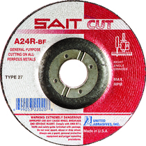 UAI Cutoff Wheel 4x1/8x3/8 TY27 Metal  - 22010